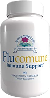 Ayush Herbs Flucomune, All-Natural Ayurvedic Herbal Supplement, Promotes Healthy Lung & Nasal Function, Doctor-Formulated,...