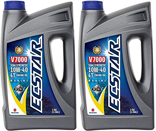 Suzuki ECSTAR V7000 10W-40 Marine 4-Stroke Engine Oil, 2 Gal (990C0-01E30-GLNx2