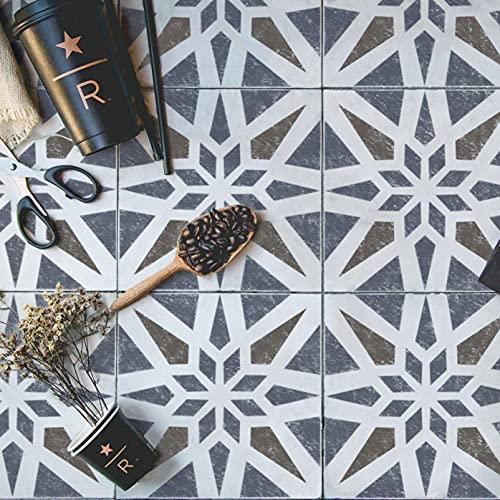 Modern Geometric Tile Stencil