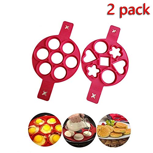 Pancake mold maker, 2 pack Nonstick Silicone