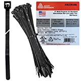 Bar-Lok Cable Ties by Avery Dennison – USA Made Nylon Zip Ties – Weather, UV & Impact Resistant Black Plastic Ties for Binding Bundling & Organizing Cable & Wire – For Indoors & Outdoors (8' x 100)