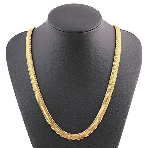 AMOZ Collares para Mujer Amp, Colgantes, Collar de Cadena de Serpiente de Hueso Torcido de Oro...