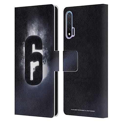 Head Case Designs Offizielle Tom Clancy's Rainbow Six Siege Gluehen Logo Leder Brieftaschen Huelle kompatibel mit Huawei Nova 6 5G