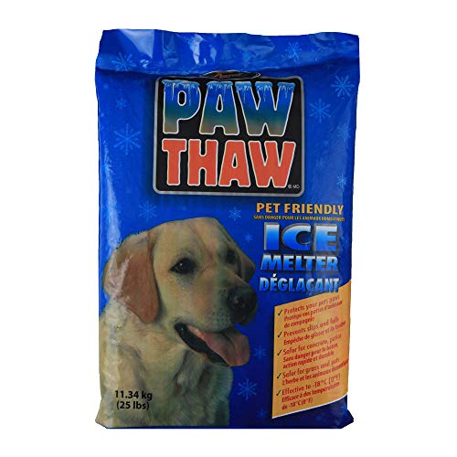 Pestell 683051 Paw Thaw Ice Melt for Pets, 25-Pound Bag