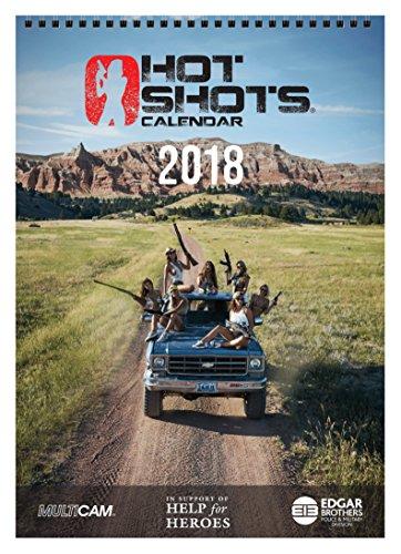 Hot Shots Kalender 2018Pack (A4Kalender, Spielkarten und 4Poster), schwarz, 30x 30x 2,5cm