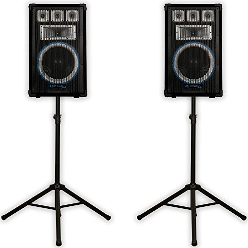 VRTX12 Speakers and Stands Technical Pro PA DJ Audio Set New VRTX12SET1