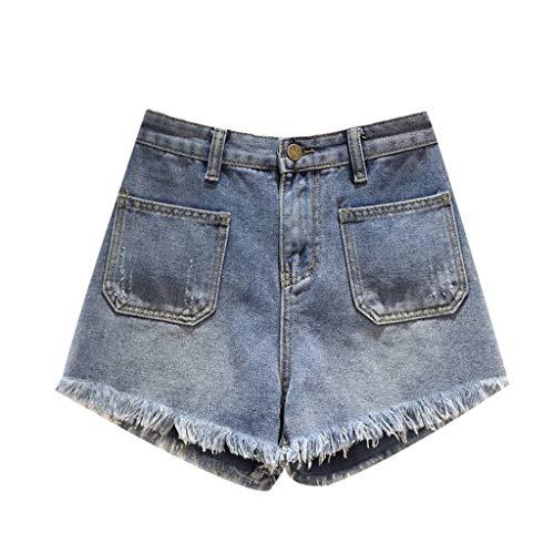 GCX Zomer Plus Size Women's shorts wijde pijpen broek Hot Pants Jeans Sexy (Color : Blue, Size : XL)