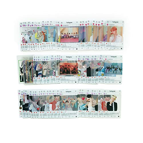 BTS Transparent Insgram Photocards - BANTAN BOYS Photo Cards, Gifts for ARMY Daughter (103pcs)