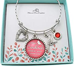 Bereavement Gift. Bereavement Bracelet. Bereavement Gift Mom. Bereavement Jewelry. When Cardinals Appear, Your Loved One Is Near