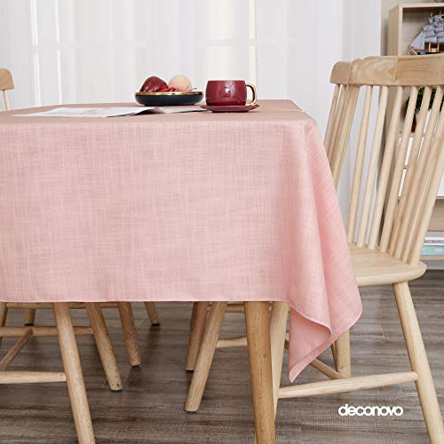 Deconovo Faux Linen Tablecloth W...