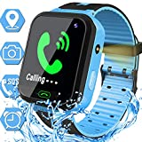 Waterproof Kids Smart Watch for Boys Girls GPS Tracker Smartwatch Phone Kids Wrist Watch Electronic...