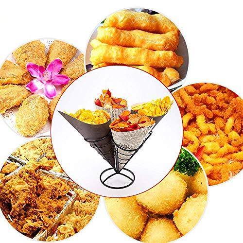 ZXL 4 in 1 frietjes voedsel rek plank kom aardappel chips aardappel chips voorgerecht