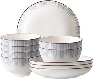 مجموعة أدوات المائدة السيراميك، مجموعة أطباق المطبخ والأكل، وعاء، والأطباق، والملاعق، والصحون، وعصيي الأكل، أمان درجة الحر...