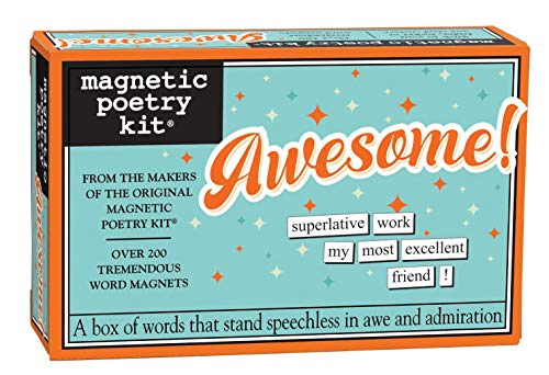 Magnetic Poetry Awesome! Kit - Words for Refrigerator - Write Poems and Letters on The Fridge - Made in The USA