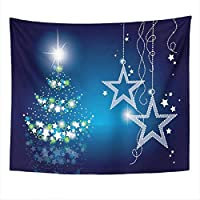 Light Blue Tapestry Christmas Tapestry Bedroom Room Decoration Wall Hanging Wall Art Tapestry Picnic Mat Beach Towel Bed Cover 150cmX100cm