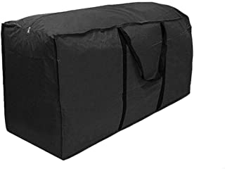 Outdoor Seat Cushions Covers with Zipper and Handles 122 * 39 * 55, Black Lightweight Carry Handbag for Christmas Tree FOUNDOVE Garden Furniture Cushion Storage Bag Waterproof