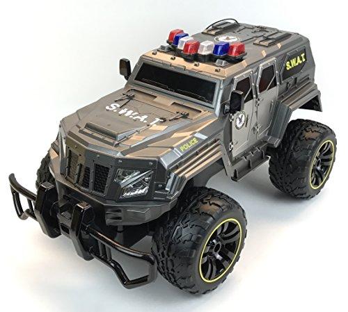 RC Auto kaufen Monstertruck Bild 3: BUSDUGA - 2486 RC Monstertruck Polizei SWAT, 1:12 , RTR, inkl. 13 LED Lichter , Signallichter mit 4 Intervallen*