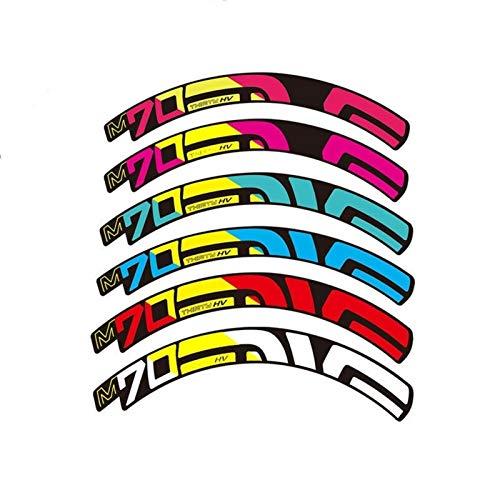 Pegatinas de ruedas de bicicleta MTB M70 Vinilo Antifade a prueba de agua Ciclismo Accesorios de bicicleta Pegatina (Color : Other color size)