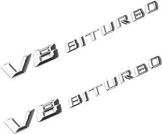 【並行輸入品】AMG メルセデスベンツ V8 BITURBOの交換用3Dエンブレムは高品質のABS製です。 創造的でクールに見えます。GLE GLS CLA GLA GLB V CLASS coupe E CLASS C CLASS S CLA...
