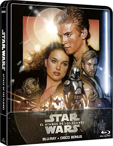 Star Wars Ep II. El ataque de los clones (Edición remasterizada) - Steelbook 2 discos (Película + Extras) [Blu-ray]