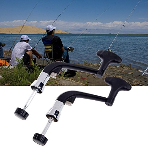 YO-HAPPY Spinning Reel Handle, Rotatable Knob Power Handle Grip Arm For Fishing Spinning Reel Gear Tackle Tool