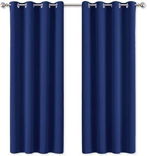 PONY DANCE Cortinas Opacas Dormitorio Azul - Accesorios Ventanas Paneles Infantiles Telas Mosquiteras Térmicas Aislantes/Proteccion Intimidad & Reduccion Ruido, 2 Uds, 140 x 175 cm (An x L)