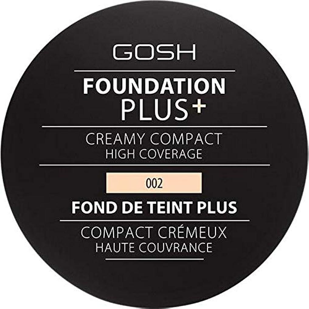 プロペラ伝統どっち[GOSH ] 基礎プラス+クリーミーコンパクトアイボリー002 - Foundation Plus+ Creamy Compact Ivory 002 [並行輸入品]