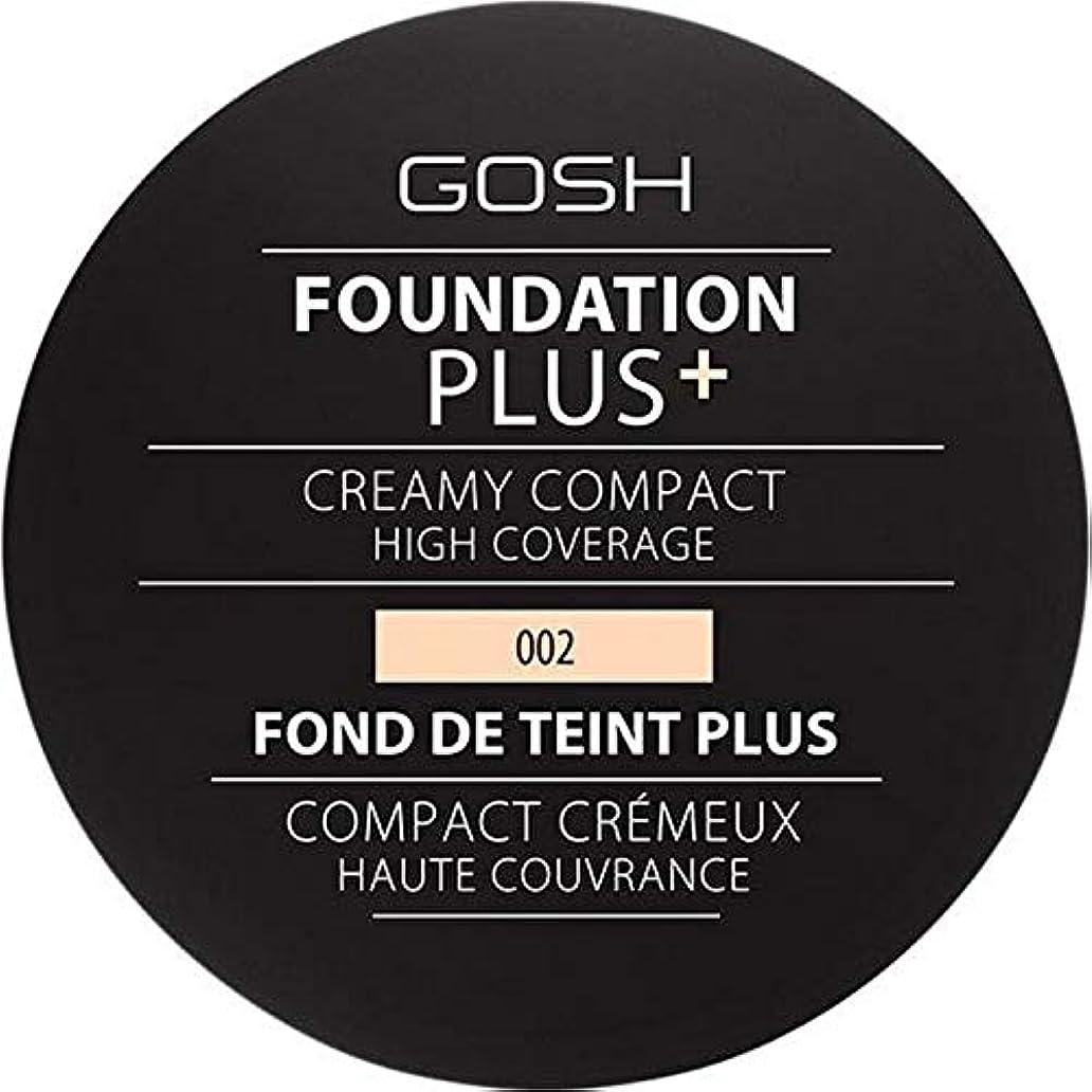 クラックピース怖い[GOSH ] 基礎プラス+クリーミーコンパクトアイボリー002 - Foundation Plus+ Creamy Compact Ivory 002 [並行輸入品]