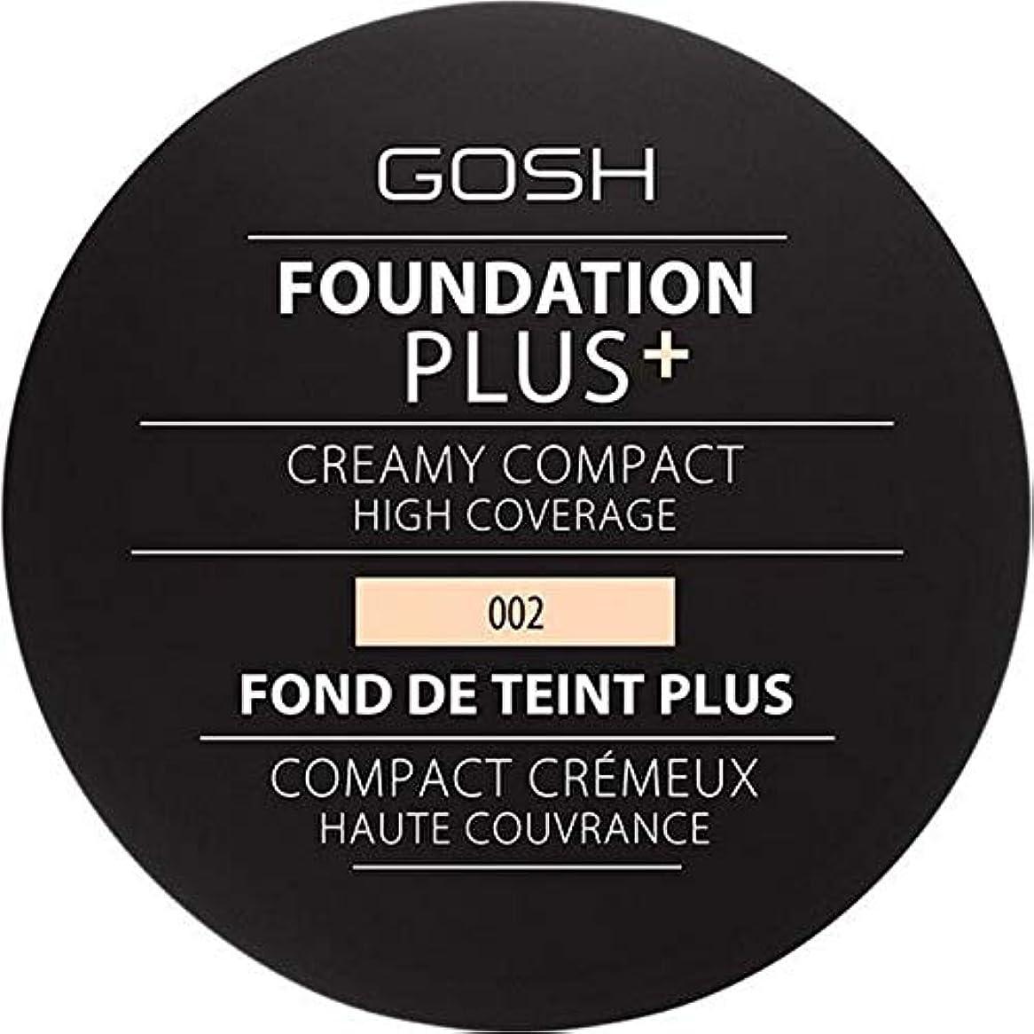 ぶどうロマンチック忍耐[GOSH ] 基礎プラス+クリーミーコンパクトアイボリー002 - Foundation Plus+ Creamy Compact Ivory 002 [並行輸入品]