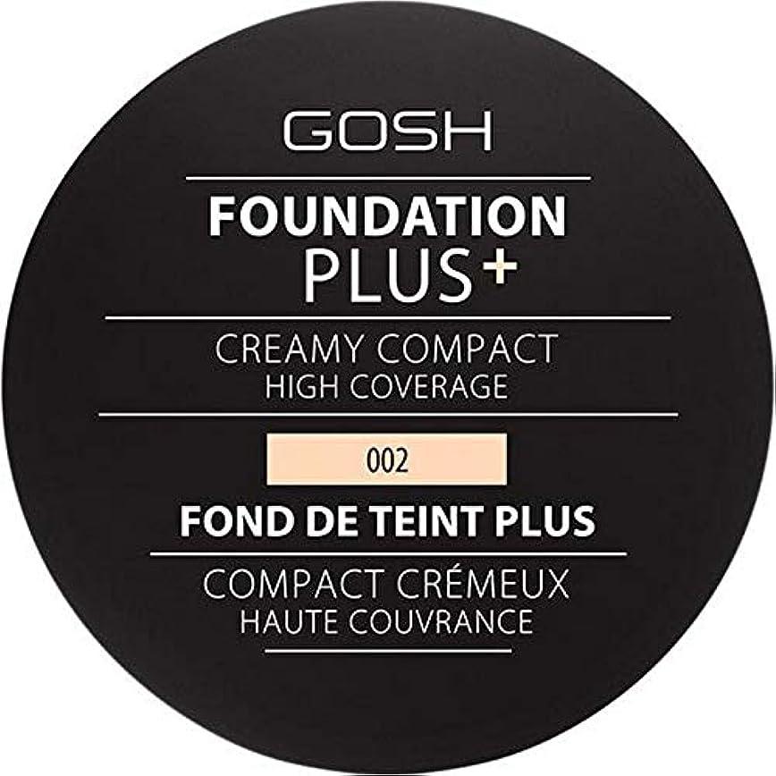容赦ない蛾落ち着かない[GOSH ] 基礎プラス+クリーミーコンパクトアイボリー002 - Foundation Plus+ Creamy Compact Ivory 002 [並行輸入品]