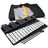 Large Xylophone 25 Notes Chromatic Glockenspiel - Bag - Sheet Music Cards