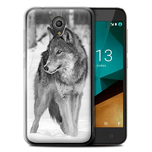 Hülle Für Vodafone Smart Prime 7 Zoo-Tiere Wolf Design Transparent Dünn Flexibel Silikon Gel/TPU Schutz Handyhülle Hülle