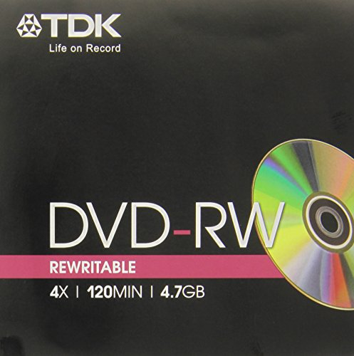 Tdk Dvd-Rw 4 7Gb 4X Jewel Case Singolo