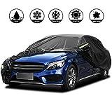 Pujuas - Lona impermeable para coche SUV, color negro, funda de protección, 4,8 x 1,9 x 1,8m