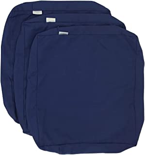 CozyLounge Deep Navy Outdoor Water Repellent Patio Chair Cushion Seat Pillow Covers (22
