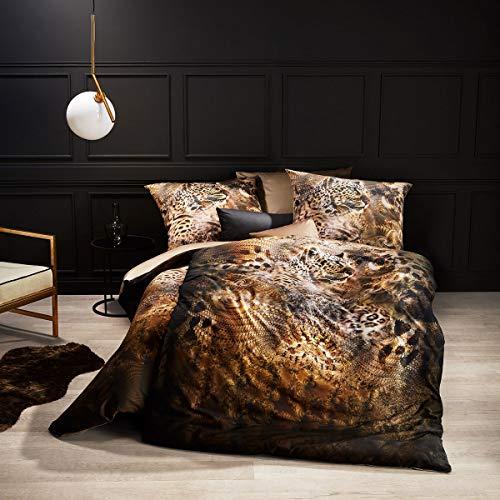 Fleuresse Mako-Satin Bettwäsche Bed Art s Leopard Glamour 1 Bettbezug 135x200 cm + 1 Kissenbezug 80x80 cm