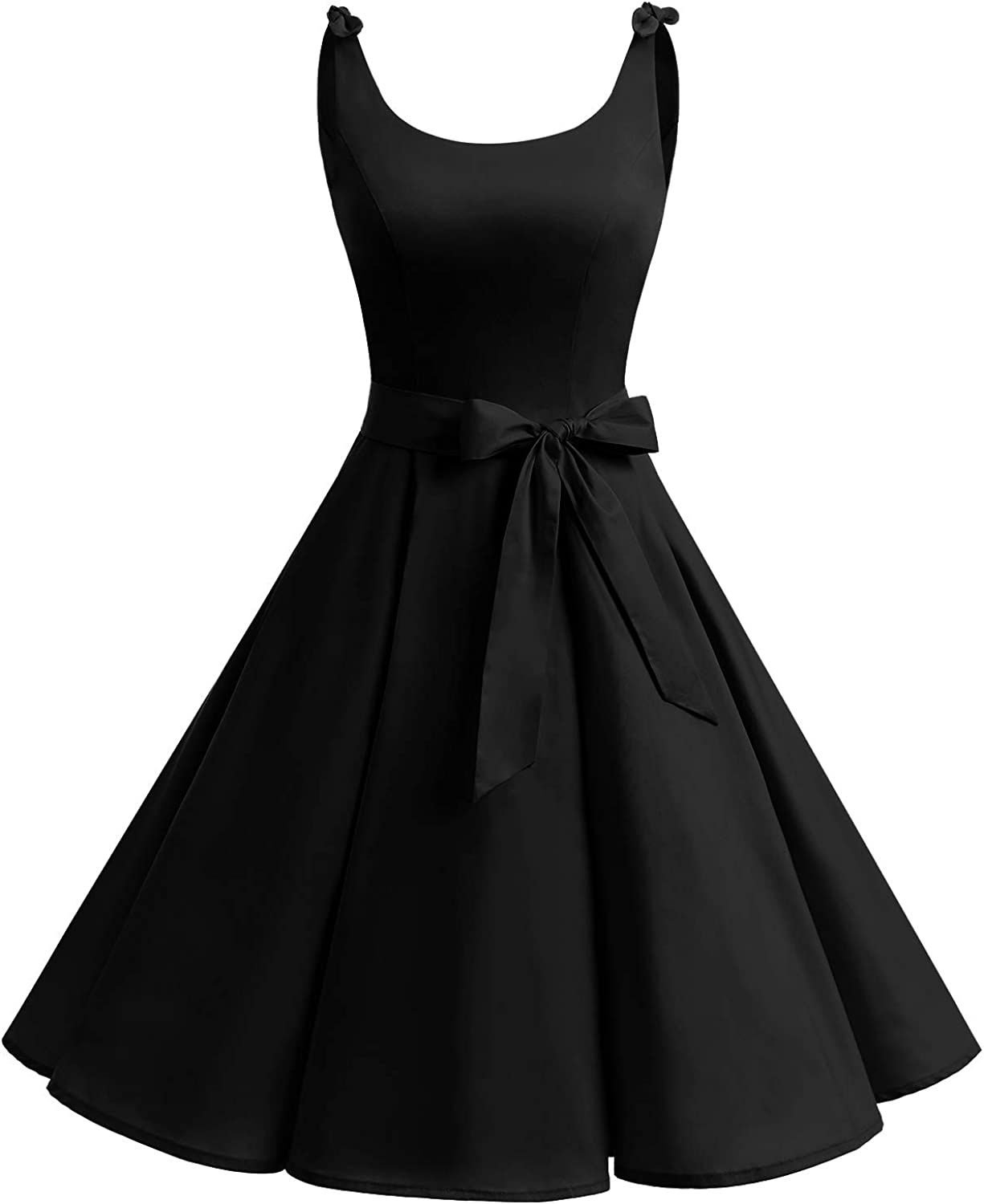 bbonlinedress Womens 1950s Vintage Retro Bowknot Floral Cocktail Swing Party Dress