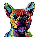 EARLFAMILY 5.1'' Sticker for Dean Russo Pit Bull Art French Bulldog Canvas Personality Car Stickers Waterproof Refrigerator Decals