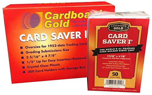 Card Saver 1 – Halbstarrer Sammelkartenhalter zum Einsenden zur Bewertung – 1 x 50er-Packung