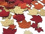 versandhop Konfetti-Blätter Herbst Erntedank Halloween Braun Tisch-Dekorieren Party Streudeko tischdeko 15g - 4