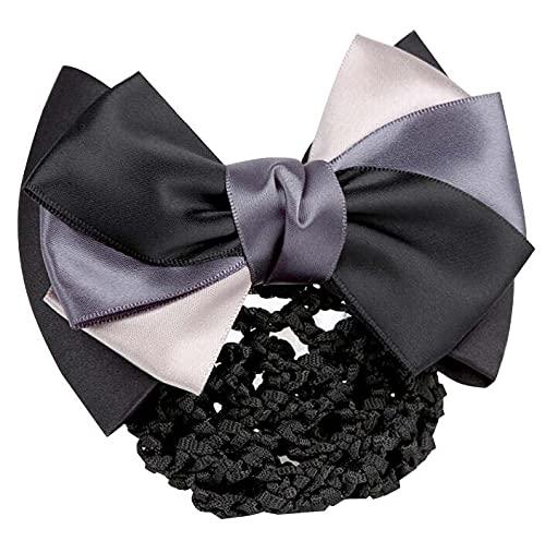 Pince à cheveux couverture Bowknot Bun Snood Hair Net Accessoire cheveux pour femmes, K2