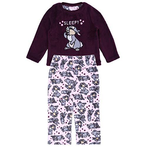Lila Schlafanzug mit Klopfer von Bambi das kleine Renntier Walt Disney - 1,5-2 Jahre 92 cm