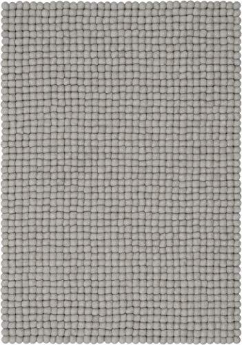 myfelt Luis Filzkugelteppich — 70x100cm, rechteckig — Grau