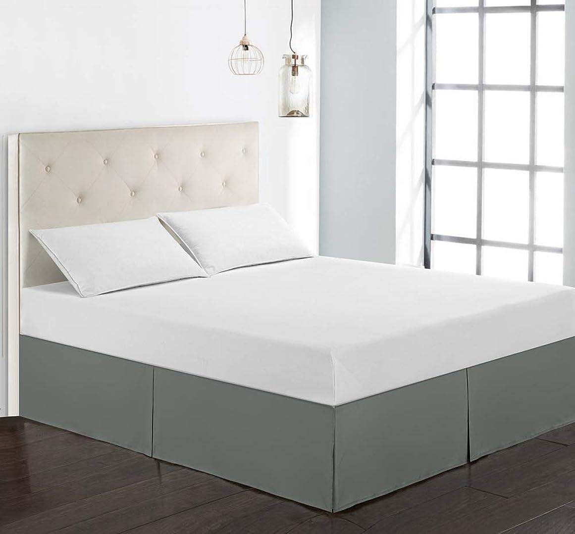 意図我慢する架空の無地ベッド スカート,1 つの作品 クシュクシュ ベッド カバー シート ほこり スリップ フィット バランス 簡単なケア ベッド カバー シート-D 99x190x38cm