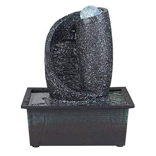 Zimmerbrunnen aus Kunststein in 6 verschiedenen Designs, Farbe:schwarz;Form:Wasserspirale
