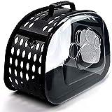 Bomoya Mochila espacial con cremallera para mascotas, diseño transparente, para viajes, senderismo y caminar.