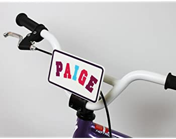 Kid's Bicycle Customizable License Plate - Ride Along Dolly Make Your Own Bike Name Plate - Includes Over 150 Letter ...