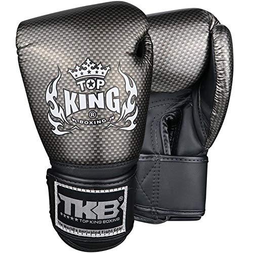 TOP King Boxing Boxhandschuhe, Kinder, Carbon, schwarz Größe S