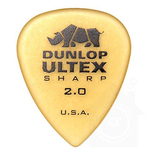 Jim Dunlop Ultex Standard Pick 24枚セット 2.00mm アルテックス シャープ ピック & Musent Custom Players Pick 付き | 433B200-ULT-24P