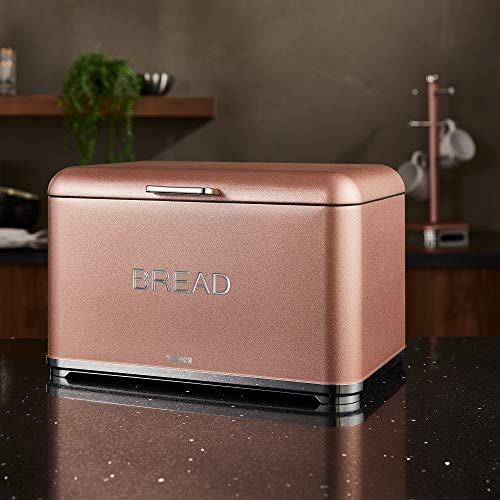 Tower Bread Bin Glitz - Blush Pink